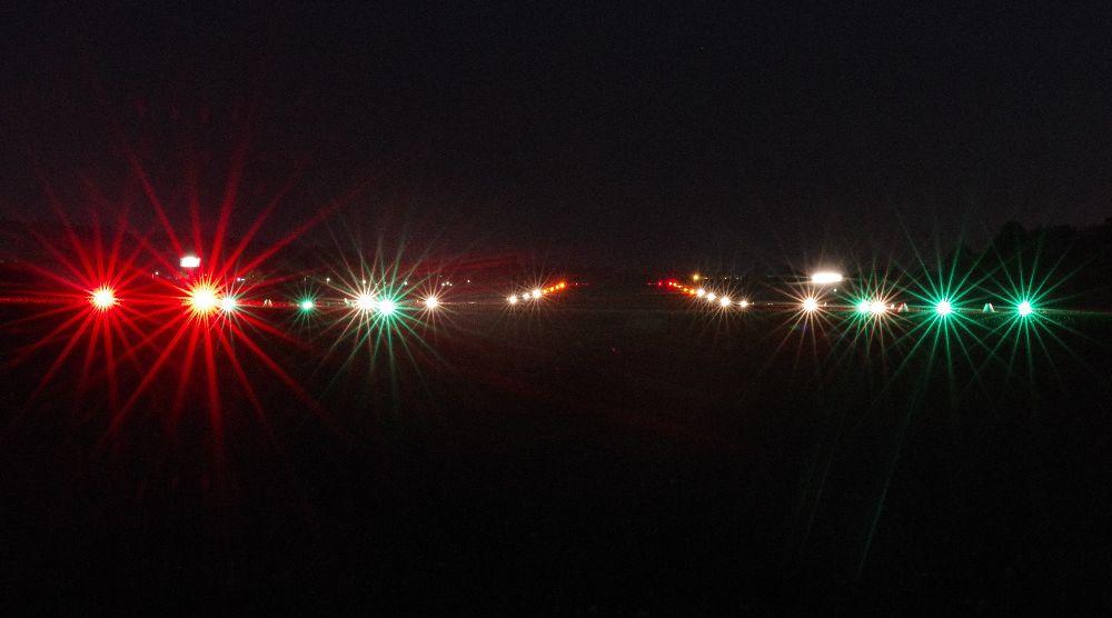 Testování mobilní letištní světelné soustavy